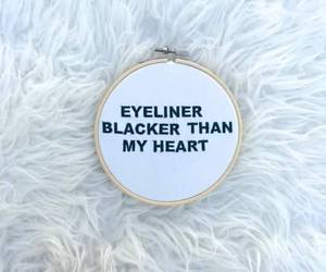 eyeliner, black, and heart image