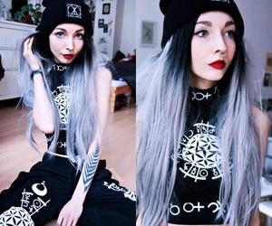 alternative, beautiful, and black hair image