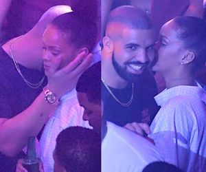 Drake, rihanna, and aubrih image