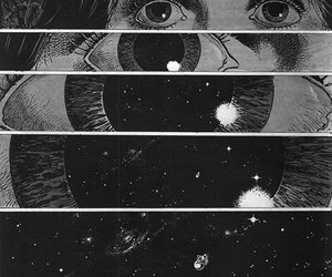 eyes, space, and galaxy image