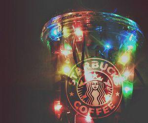light, starbucks, and coffee image