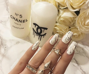 nails, chanel, and fashion image
