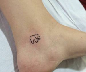 elephant, simple, and tattoo image