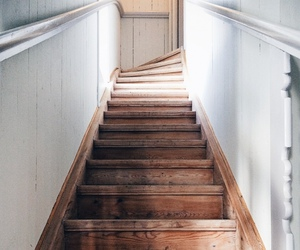 stairs, home, and interior image