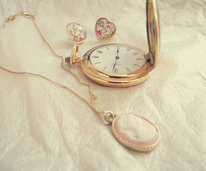 cameo, clock, and vintage image