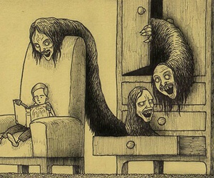 monster, creepy, and book image