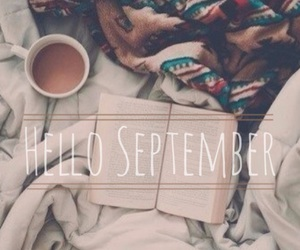 September, autumn, and book image