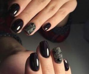 black, nails, and glossy image