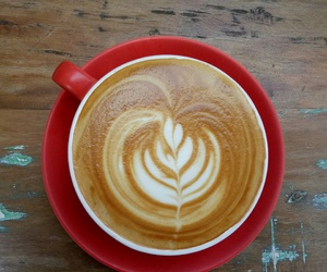 coffee, red, and flatwhite image