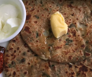 dinner, recipe, and paratha image