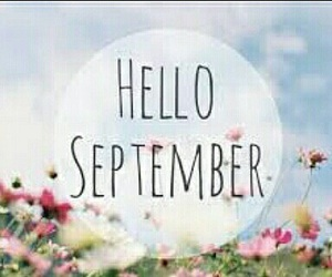 September, flowers, and hello image