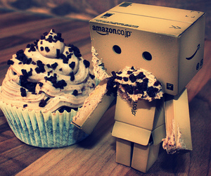 cupcake, danbo, and food image