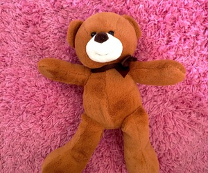 bear, childhood, and pink image
