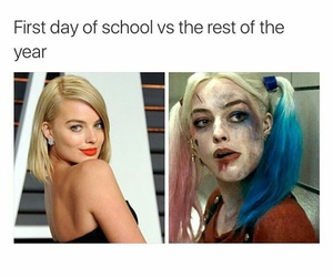 funny, harley quinn, and school image