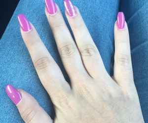 manicure, nails, and rosa image