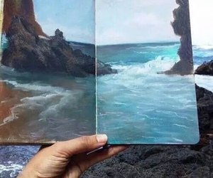 art, sea, and blue image