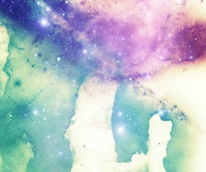 galaxy, stars, and hipster image