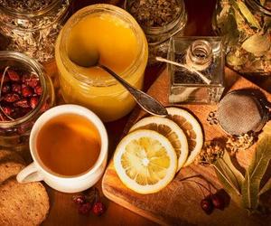 tea, autumn, and honey image