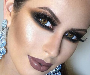 dramatic, glam, and makeup image