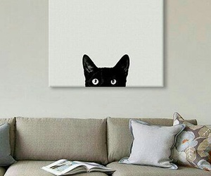 black, cat, and home image