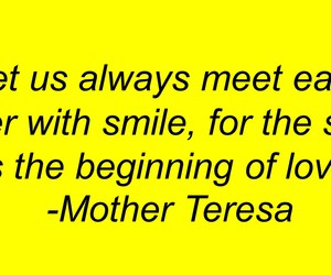mother teresa, quote, and smile image