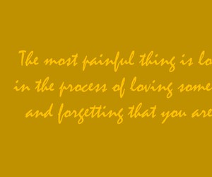 forgetting, loving, and yellow image