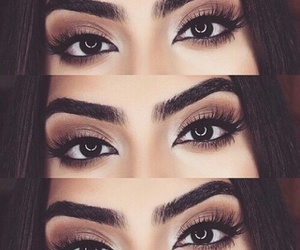 beautiful eyes, eyes, and beautiful eye makeup image