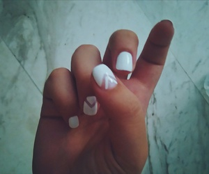 matte, white nails, and classy nails image