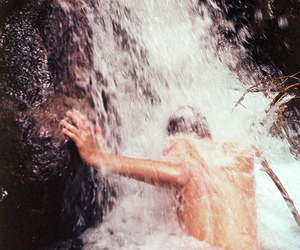 nature, waterfall, and boy image