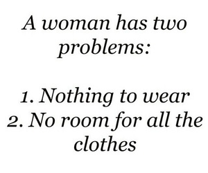 woman, problem, and clothes image