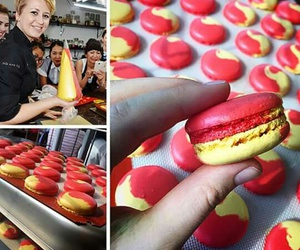 delicious, duo, and macarons image