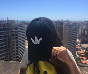 adidas, girl, and cap image