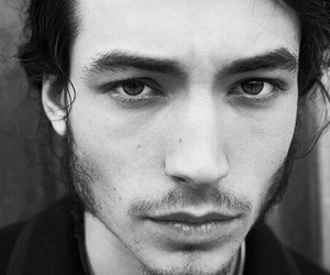 ezra miller, black and white, and sexy image