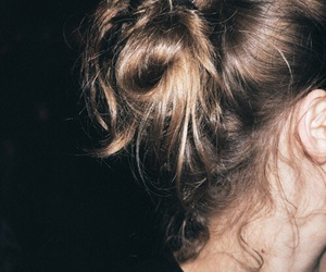 night, soul, and messy bun image