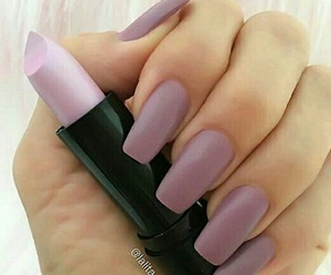 girly, nails, and nude colours image