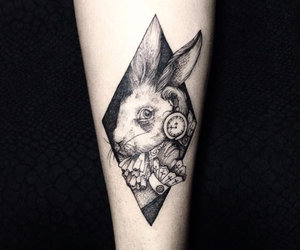 tattoo and allice in wonderland image