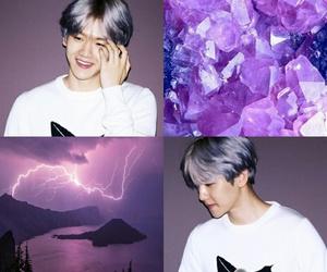 exo, purple, and baekhyun wallpaper image