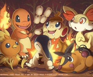 pokemon and fire image