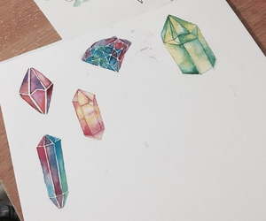 art, colourful, and crystal image