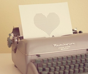 heart, typewriter, and vintage image