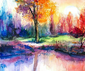 art, nature, and colors image