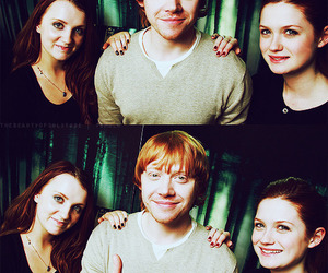 harry potter, rupert grint, and bonnie wright image