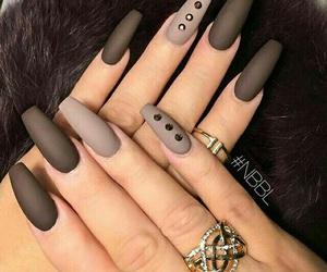 nails, brown, and black image