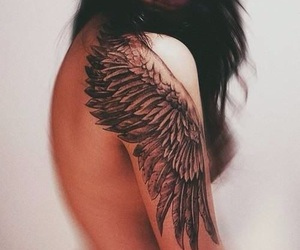 tattoo, wings, and volar image