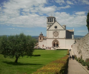 blue, italy, and assisi image