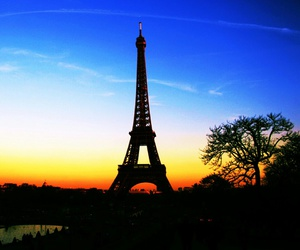 paris, sunset, and love image