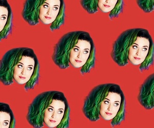 background, green hair, and katy perry image
