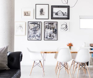 chic, dining room, and industrial image