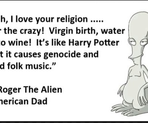 alien, american dad, and atheism image