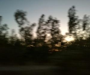 blurry, panorama, and sunset image